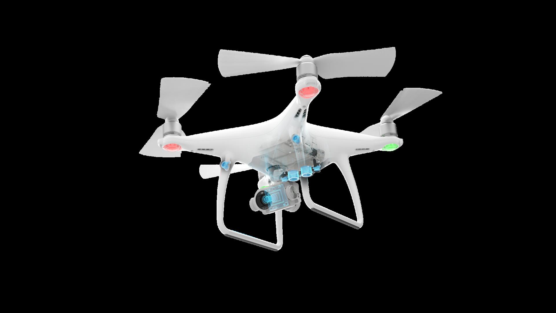 sensores de un dron DJI Phantom 4 pro