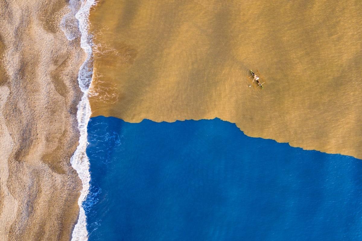 Dronestagram 2018-Donde el rio embarrado se encuntra con el oceano por J Galamba