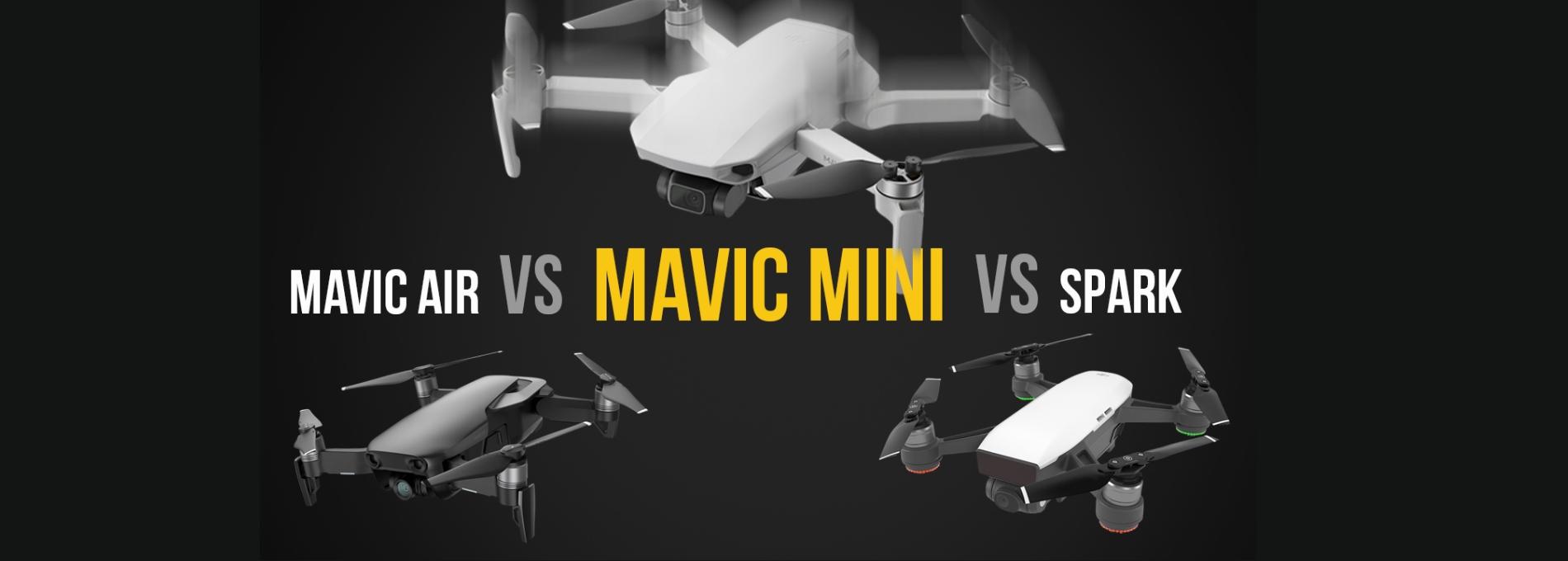 DJI Mavic Mini vs DJI Mavic Air vs DJI Spark